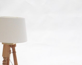 Tripod lamp. Table lamp. lighting. table light. Wooden lamp. hand-crafted.