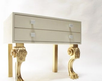 Night table Golden Legs Nightstand. Wooden night table. Side table. Auxiliary table. By order
