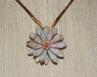 Beaded Flower Pendant