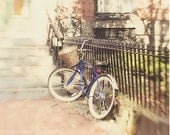 Bicycle Photography, Boston Photography, Pretty, Dreamy Whimsical, Photo Print, Ethereal Soft, Summer Vacation, Travel Bike Picture, Pastel