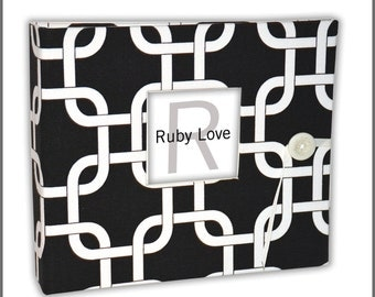 Black Modern Links Baby Book | Ruby Love Baby Memory Book