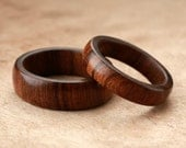 Custom Matching Tamboti Wood Rings - 7mm & 5mm