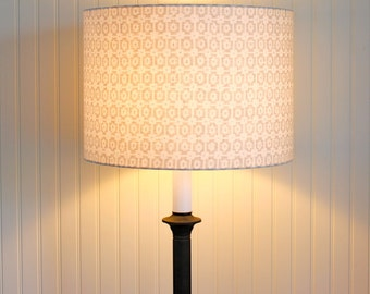 Medium Drum Lamp Shade /  Lampshade / Pendant / Paloma Pewter / Made to Order