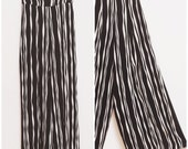 Palazzo pants / high waist wide leg palazzo pants with black and white stripes