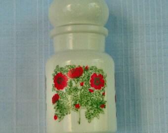 SALE Belgian Milk Glass Apothecary Jar 70's