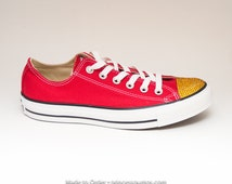 Red Jeweled Shoes Convers