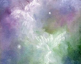 Angel Art Print, Angels, Wall Art, Angel Wings Decor, Home Decor, Spiritual Gift, Framed Print, Signed Print