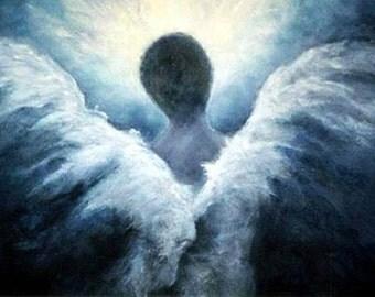 Angel Print, Angel Art, Angel, Guardian Angel, Wall Art, Home Decor, Spiritual Gift, Ascending Angel