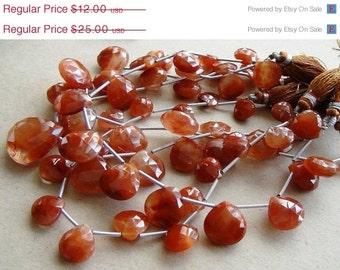 35% OFF Copper quartz faceted heart briolette