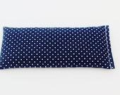 Lavender Eye Pillow, Navy Blue and White Polka Dot, Shower Hostess Gift