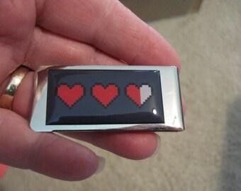 Zelda Life Hearts Money Clip
