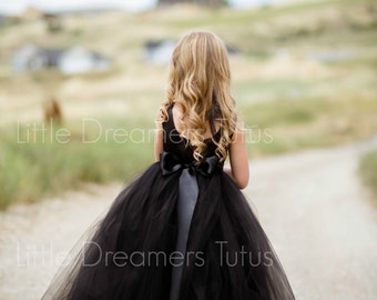NEW! The Juliet Dress in Black - Flower Girl Tutu Dress