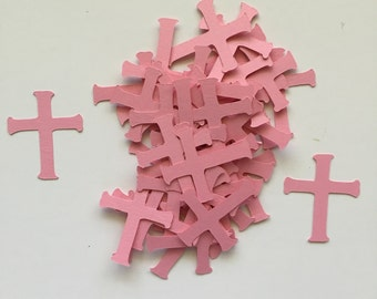 Cross Confetti Die Cuts Pink