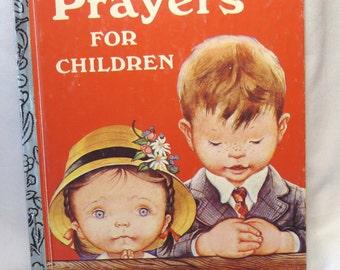 Prayers for Children, Little Golden Book, vintage Childrens Book, collectible book, vintage 1974, Religious, Christian, Childrens Poems,Song