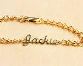Sample Sale - Vintage Chain Name Bracelet - Jackie