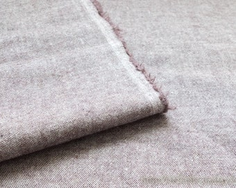 "Solid Fabric, Natural Simple Retro Coffee-Japanese Dyed Linen Cotton Blended Fabric(LAST Piece, 35.4""x27.5 Inches)"
