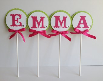 Emma Cake Topper Decoration - Birthday Centerpiece Name Personalization