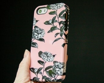 iPhone 6 Case Flower iPhone 6S Case, Floral iPhone 5S Case, Roses iPhone 5C Case, Pink iPhone 6S Plus Case