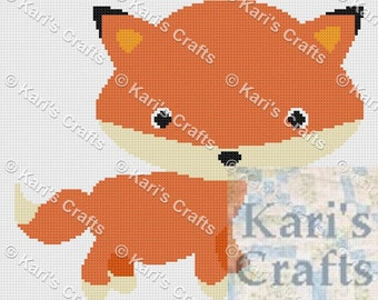 Tiny Fox Afghan Baby Blanket PDF Pattern GRAPH ONLY - Instant Download