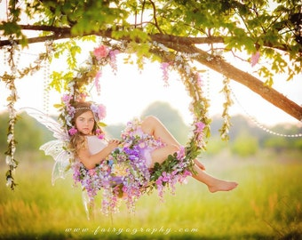 Flower swing and garland with Fairy Flower Skirt and Set