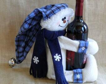 Snowman Wine Bottle Hugger