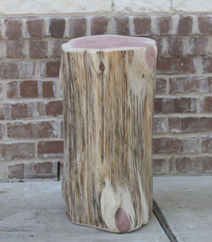 tree stump side table log decor end table seat stool s. Black Bedroom Furniture Sets. Home Design Ideas