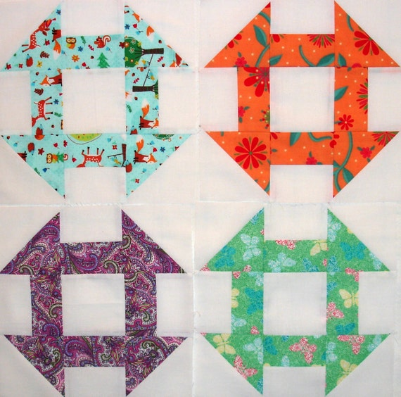 Churn Dash Quilt Blocks