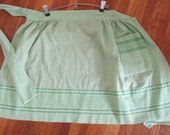 Half Apron green Chickenscratch Embroidery