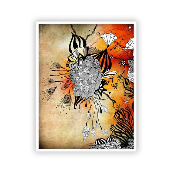 Midnight by Iveta Abolina -  Floral Illustration Print
