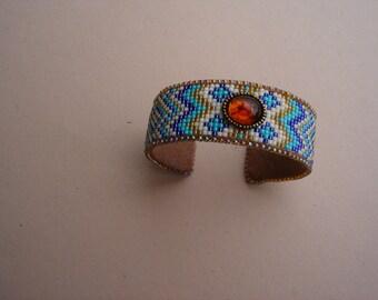Loomed Cuff Bracelet
