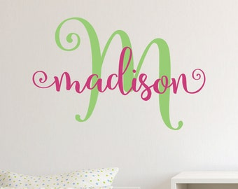 Girls Name Decal, Nursery Name Decal, Cute Name Decals, Girls Wall Decals