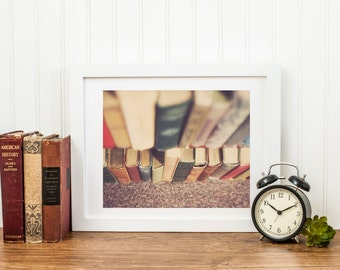 Vintage Books Library Home Decor Photography Print - gifts for readers