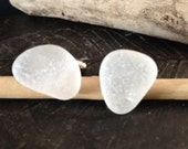 Genuine Irish Sea Glass Cuff Links
