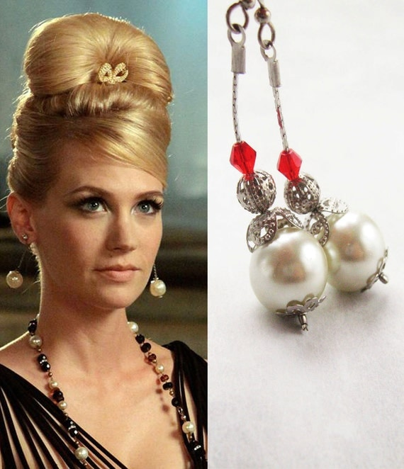 items similar to long dangle earrings mad men jewelry