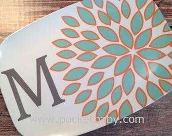 Personalized Platter - Personalized Modern Serving Platter - Wedding Gift