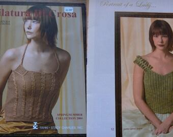 2004 Filatura Di Crosa knitting pattern book spring/summer collection misses tops