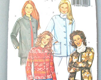 Uncut Butterick BP372 Misses' Petite Jacket Loose-Fitting, Extended Shoulders, Button Closure, Full Length Sleeves, Lined