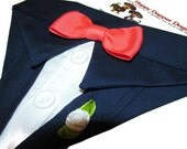 Navy or Black Tuxedo Bandana Sz XS S M