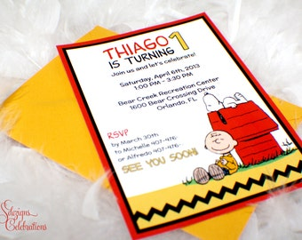 Charlie Brown - Snoopy Birthday Invitations | Peanuts