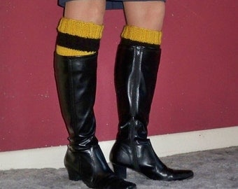 Boot Cuffs in Hufflepuff Colors