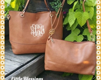 Monogrammed Purse 2-in-1