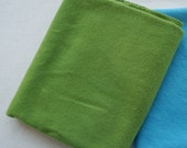 Medium Green Hand Dyed Felted Wool Fabric - Hand Dyed - - 100% Wool