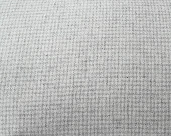 Snowball - White with Soft Grey Felted Wool Fabric Yard in 100% Wool in a Fat Eighth or Fat Quarter Yard
