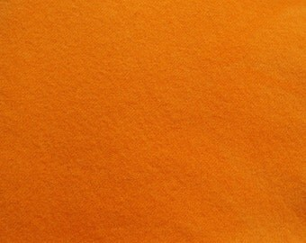 Orange Tangerine Hand Dyed Felted Wool Fabric - Hand Dyed - - 100% Wool