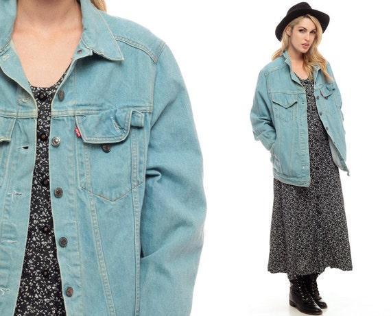 levis veste en jean 80 s denim jacket vintage grunge. Black Bedroom Furniture Sets. Home Design Ideas