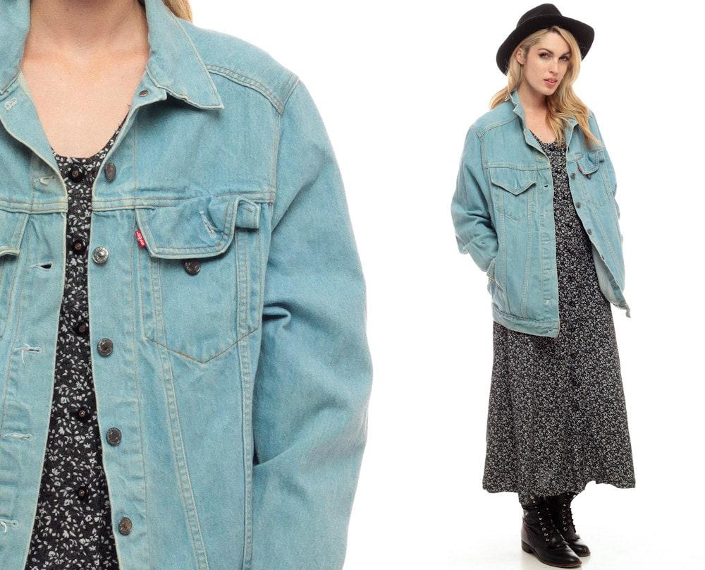 Levis veste en jean 80 s denim jacket vintage grunge - Veste annee 80 ...