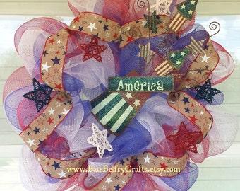 4th of July Wreath, Patriotic Wreath