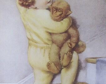Bessie Pease Gutmann, Nursery Print, Children's Print, Unframed Book Page, 6 x 8 in Book Plate