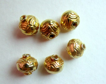 Bali Gold Vermeil Beads 8mm