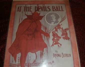 1913 Devil's Ball vintage  sheet music by Irving Berlin